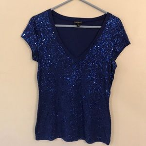 Small sequin blue t-shirt